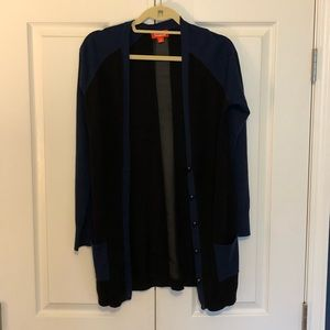 Navy blue and black cardigan